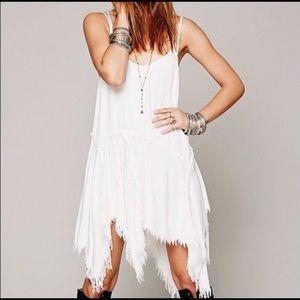 Free People Tattered Up white dress